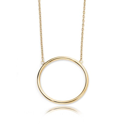 gold-open-circle-necklet-hcjewellers-royston-hertfordshire